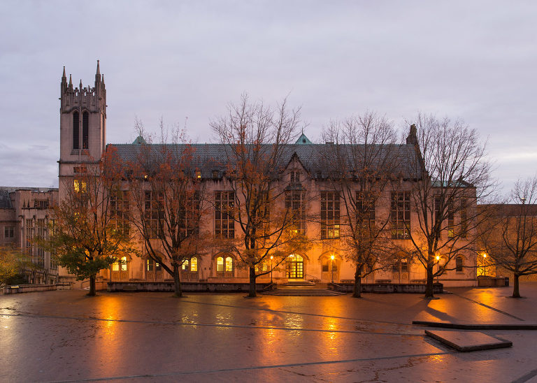 Architectural photography of Red Square at University of Washington