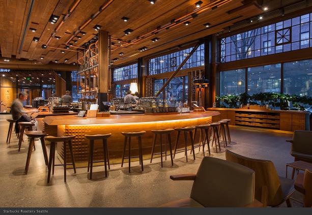 Seattle Starbucks Roastery Interior